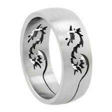 Stainless Steel Band Ring w/ Dragon Cut-out, sz8-14     #rss43