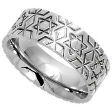 Stainless Steel STAR OF DAVID BAND RING rss140