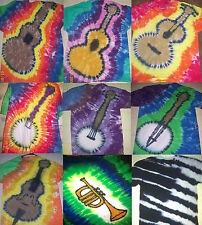 Handmade Tie Dye ADULT shirt MUSIC - GUITAR BANJO BASS PIANO HORN DRUMS