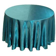 """25 Pack 132"""" Round Wedding Satin Tablecloths 30 Colors"""