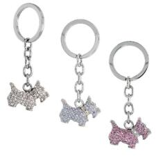 Scottish Terrier Dog Puppy Key Chain, Key Ring, Key Holder w/ Crystals