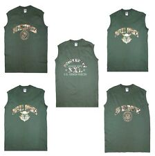 COOL NEW PRINT MILITARY STYLE SLEEVELESS MUSCLE T SHIRT