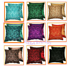 2 THAI SILK ROSE CIRCLE THROW CUSHION PILLOW COVER RBT