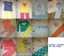 * NEW GIRLS CARTERS LOVE MOM DAD PAJAMAS SET 18M 24M 2T 3T 4T