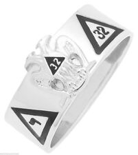 Men's Silver Gold Masonic Freemason Scottish Rite Ring