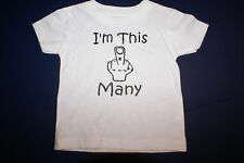Funny Cute Baby Infant Toddler T-Shirt- I'M THIS MANY