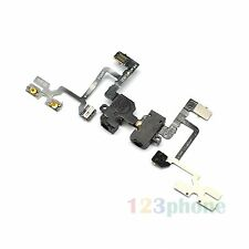 BRAND NEW EARPHONE AUDIO JACK + VOLUME FLEX CABLE FOR IPHONE 4 #A-403