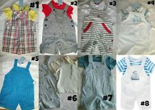 * NEW BOYS SUMMER SHORTALLS SHORTS OUTFIT SET 3M 6M 12M 18M 24