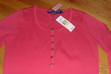 NWT Vineyard Vines Henley Sweater Navy Cherry Wool M