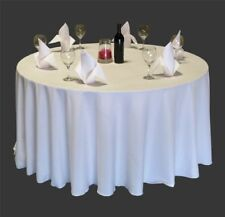 15 Pack 120 Inch Round Polyester Tablecloths 25 Colors High Quality Made in USA
