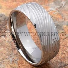 Titanium Ring Wedding Band Ring Damascus Style His & Her Jewelry Top Size 6-13