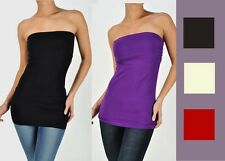 Sexy Slimming LONG Ruched strapless tube top *MANY COLORS* S M L