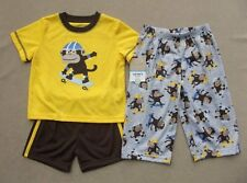 NWT Toddler Boys CARTERS SKATEBOARDING MONKEY Pjs Pajamas Sleepwear 18-24 Months