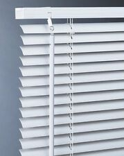White PVC Venetian Blinds - 10 Widths and easy to trim - 25mm Slats