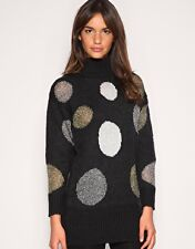 NEW MOTEL DISCO SPOTTED KNIT JUMPER DRESS IN MULTI OR METALIC - RRP £50.00