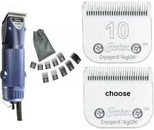 Oster turbo A5 1-sp Dog Animal Clipper+10-Combs+Extra Blade #10 #15 #40 #50 New
