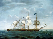 "U.S. Frigate Constitution and HMS Guerriere, 19 August 1812: ""Dropping Astern"""