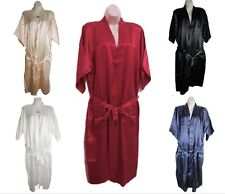 NEW ARRIVAL MEN'S SLEEPWEAR NIGHTGOWN SILK SATIN PAJAMA LONG ROBE 5 COLORS
