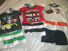 * NWT NEW BOYS 2PC SWIMMING SHORTS SHIRT SUMMER OUTFIT SET 3/6M 18M