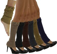 Select 1 Color Leg Warmer Bow Winter Warm Long Knitted Thigh High Hosiery SX15