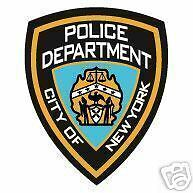 STICKER r New York City Police Department