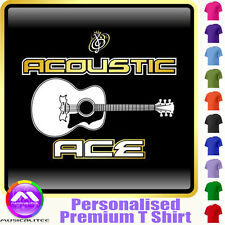 Acoustic Guitar Ace Hz - Personalised Music T Shirt 5yrs - 6XL by MusicaliTee