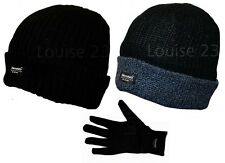X24 THERMAL WARMTH THINSULATE LINED BEANIE SKI HAT & GLOVE WINTER HIKE GIFT SET