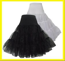 "26"" 50s Black Rock Wedding PROM PETTICOAT FANCY SKIRT Pinup Under  SWING TUTU"