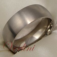 Titanium Ring Matte Wedding Band Men's Brushed Jewelry Size 6-13