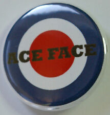 Ace Face Target Button Badge, Mods, The Jam, Scooters, 25mm  or 38mm  Badge