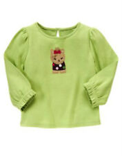 NWT Gymboree PUPS & KISSES Green Yorkie Dog Shirt Top Tee Girls Size 5T 5