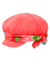 NWT Gymboree BURST OF SPRING Coral Watercolor Floral Hat Pageboy Cap 3-4 3T 4T