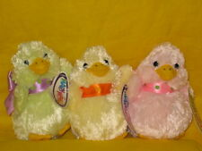 Mary Meyer Petite Puff  Easter chick plush pink yellow green NWT New