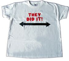 "Boys/Girls T-Shirt ""THEY DID IT"" Great for brother/sister of twins"