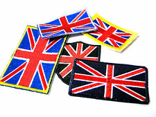 British Flag Union Jack Motif Patch Iron/Sew On Badge Military Style Patriotic