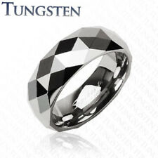 Tungsten Carbide Ring Multi Facet Prism Size 9,10,11,12,13 (f25)