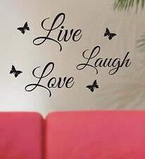 Live Laugh Love Wall art sticker quote - great quality, low price, free post