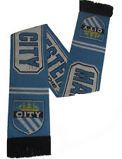 X62 MANCHESTER CITY FOOTBALL SUPPORTER BAR STRIPE CLUB SCARF CITY TILL I DIE