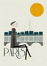 BLANCA GOMEZ - PARIS  ART PRINT WITH FRAME OPTIONS OR AS GICLEE CANVAS