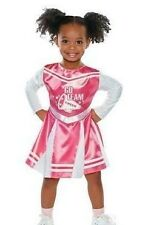 Toddler Girls PINK CHEERLEADER costume dress up Size 12-24 Mo 3T- 4T cheer