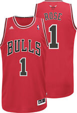 Derrick Rose #1 Chicago Bulls Adidas Men's Sewn-On Swingman Jersey RED