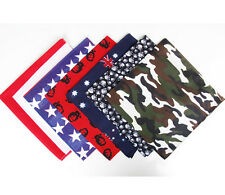 100Cotton Bandanas head wrap scarf wrist band National Flags Skull  100 Cotton Head Scarves