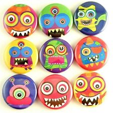 monster rainbow magnet pin badge button cab charm boy gift treat party favor