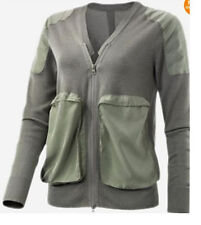 ADIDAS STELLA MCCARTNEY GOLF KNIT CARDIGAN FLINT GREEN JACKET NEW
