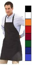 1 NEW BLACK RED ORANGE GREEN WHITE BLUE COMMERCIAL BIB APRON, WITH COLOR CHOICE