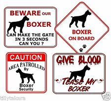 BOXER NOVELTY CAR & WINDOW SIGNS - DOG