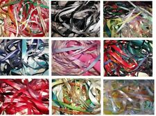 10 x 1 Metre Mixed Ribbon Off Cuts Assorted Colours & Widths In Bag