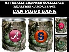 COLLEGE REALTREE PIGGY BANK-COLLEGE LOGO REAL TREE BANK- REALTREE CAN BANK-A-K