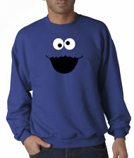 Cookie Monster Face Cartoon Jerzees Crewneck Sweatshirt