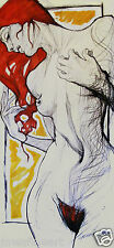 EROTIC ART,FEMALE NUDE, ARCHIVAL  QUALITY PRINT OF DRAWING,A3,A4,LUCINDA LYONS